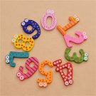 1Set 10pcs Fun Number 0-9 Wooden Alphabet Fridge Magnet Kids Educational Toy FT6