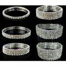 Luxury Full Crystal Elastic Bracelet Bangle Wristband Charm Wedding Bridal Gift