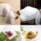 100PCS Empty Non-woven Teabags String Heat Seal Filter Paper Herb Loose Tea Bag