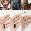 Fashion Hollow Vintage Cresent Hair Clip Moon Shape Pendant Clamp Pin Barrette