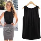 S Black Hot Women Summer Loose Sleeveless Casual Tank T-Shirt Blouse Tops Vest