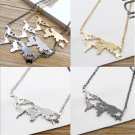 Fashion Gothic Women's Vintage Exaggerated World Map Pendant Necklace Jewelry