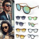 New Women Men Punk Vintage Cat Eye Sunglasses Metal Frame Unisex Round Glasses