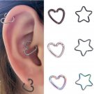10PCS Stainless Steel Piercing Ring Hoop Earring Helix Cartilage Tragus Daith FT