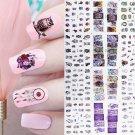 1 Sheet Water Decals Nail Art Transfer Stickers Big Sheet Manicure Decoration