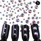 Champagne 3D Nail Art Rhinestones Glitters Acrylic Tips Decoration Manicure NEW