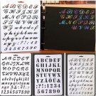 DIY Alphabet Number Layering Stencils Painting Scrapbooking Paper Cards Craft FT