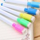 5/10X Black Whiteboard Marker Dry Erase DIY Magnetic Pen with Eraser Lid Cap