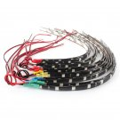 2PCS Waterproof 12 LEDs 30cm 5050 SMD LED Strip Light Flexible 12V Car Decor FT