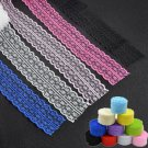 10 Yard DIY Embroidered Net Lace Trim Ribbon 4.5 cm Multicolor Choice Wholesale