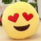 Fun Love Emoji Smiley Emoticon Soft Stuffed Plush Round Cushion Toy Doll Gift FT
