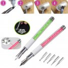 With 5 Dotting Head Drawing Line Nail Beauty Nail Art Design Pen Manicure Tool