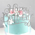 """""""Happy Birthday"""" Stylish Gold Silver DIY Cake Topper Party Supplies Decorations"""
