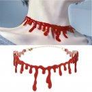 Punk Red Blood Stitch Choker Necklace Halloween Party Dress Ball Rock Deathrock