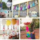 New 5PCS Tissue Garlands Bunting Ballroom Paper Tassels Wedding Pom Party Decor