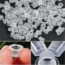 200 S/M/L Lots Clear White Plastic Tattoo Ink Cups Caps Holder Supplies New FT