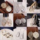 New Fashion Women Lady Hook Earrings Crystal Ear Stud Dangle Hoops Jewelry Gifts