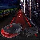 Cool 5 LED+2 Laser Cycling Bicycle Flashing Lamp Light Rear Tail Safety Warning