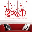 New Year 2017 Merry Christmas DIY Vinyl Wall Sticker Home Windows Decal Decor FT