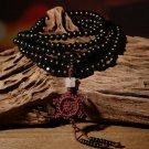 6mm Sandalwood Buddhist Buddha Meditation 216 Prayer Bead Mala Bracelet Necklace