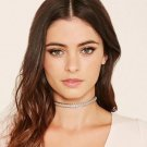 Retro Gothic Punk Simple Charm Gold Silver Wrap Choker Necklace Women Jewelry FT