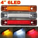 One 6 LED Clearance Side Marker Light Indicator Lamp Strip Truck Trailer Lorry