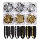 Gold Silver Holographic Laser Glitter Paillette Flakes Nail Sequins Decoration F