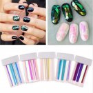 5 Colors Modish Broken Glass Foils Finger DIY Nail Art Stencil Decal Stickers FT