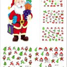 Lovely Fashion Christmas Tree Series Colorful Nail Art Stickers 12 Sheet FT66