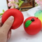 Charms Jumbo Squishy Apple Cream Scented Slow Rising Toy Phone Strap Kids 1PCS