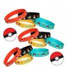 4PCS Pokemon Go Pikach Wristband Silicone Bracelet Party Gifts Bangle Chic FT67