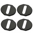For 2004-2012 M6 / MX-5 Car Door Lock Protective Cover 4pcs Black FT