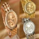 Luxury Women Watch Dial Crystal Rhinestone Steel Fashion Quartz Wrist Watch FT25