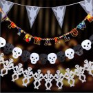 "118inch Fashion Scary ""Happy Halloween"" Hanging Paper Garland Decoration Props"