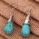 Fashion Jewelry Women Blue Turquoise Charm Tibetan Silver Drop Dangle Earrings