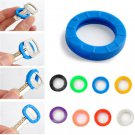 8PC Silicone Hollow Bright Colors Key Cap Covers Topper Keyring With Bly Braille