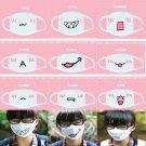 1PC Kawaii Soft Cute Anime Emotiction Mouth-muffle Kaomoji Anti-Dust Face Mask