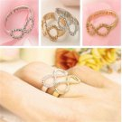 Stylish Meaningful Women Lucky 8 Letter Best Friends Engraved Friendship Ring