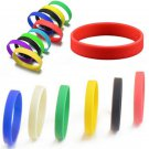 Newest 6 Colors Men's Women's Sport Silicone Rubber Bracelet Rubber Wristband FT