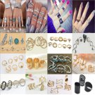 Punk Sexy Boho Women's Stack Plain Above Knuckle Ring Midi Finger Tip Rings Gift