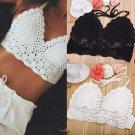 Sexy Women Crochet Bralette Knit Bra Boho Beach Bikini Halter Cami Tank Crop Top
