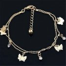 Sexy Women Gold Butterfly Ankle Chain Anklet Bracelet Foot Jewelry Sandal Beach