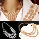 Fashion Sexy Jewelry Chain Pendant Choker Chunky Statement Bib Necklace Gift FT