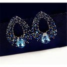 2016 Fashion Sexy Party Full Rhinestone Hollow Out Water Drop Earring Stud Gift