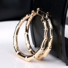 Charm Sexy Women Punk Old School Gold Bamboo Big Hoop Large Circle Earrings FT56
