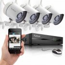 4CH NVR 720P HD Network Outdoor PoE CCTV Home Security Camera System