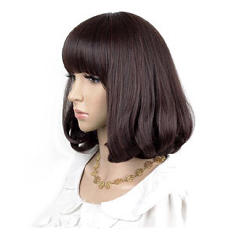 Cute High Quality Fashion Sweet Lady Wig Short Hair Natural Bob Brown: Wig Cap: Comb