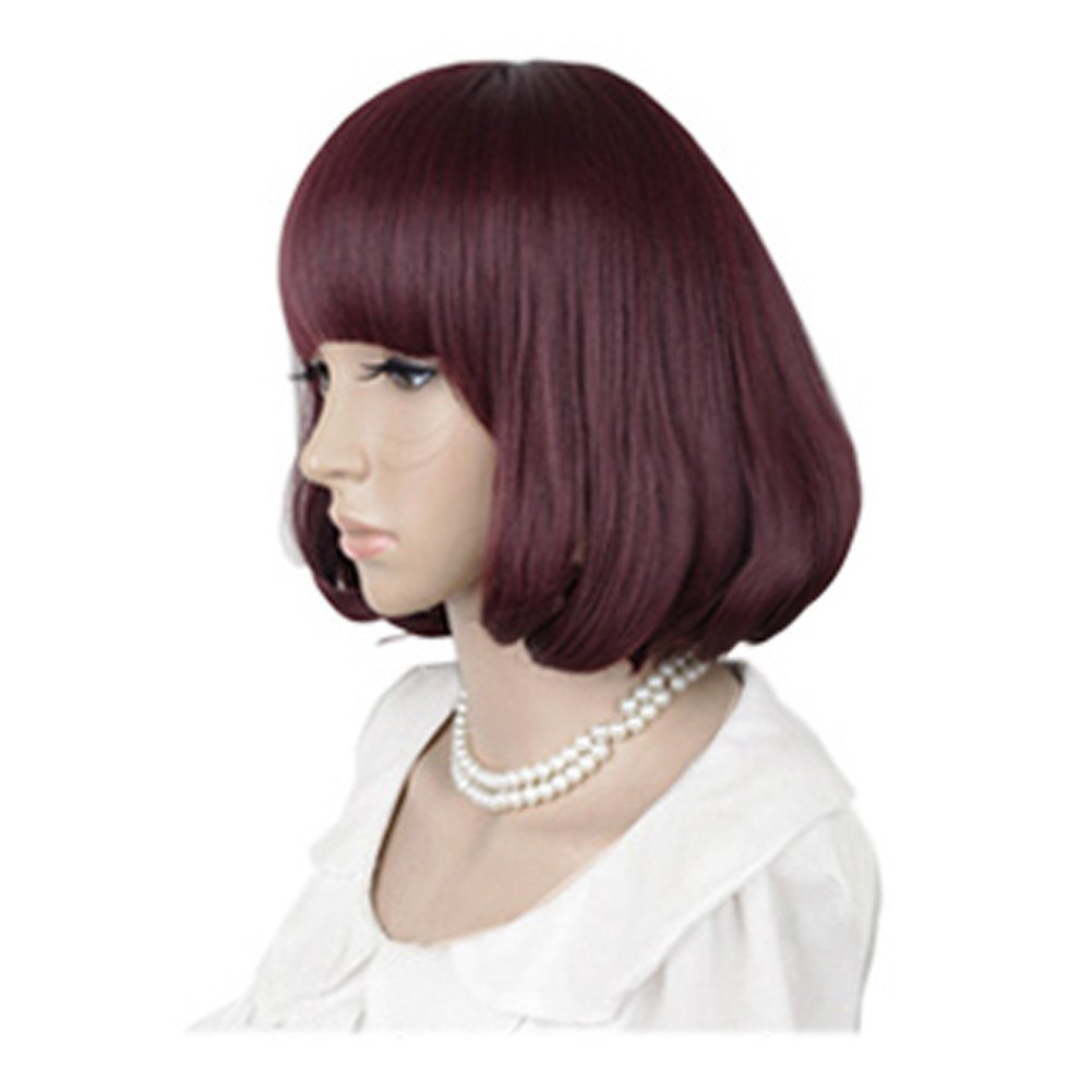 Cute High Quality Fashion Sweet Lady Wig Short Hair Natural Bob Win Red: Wig Cap: Comb