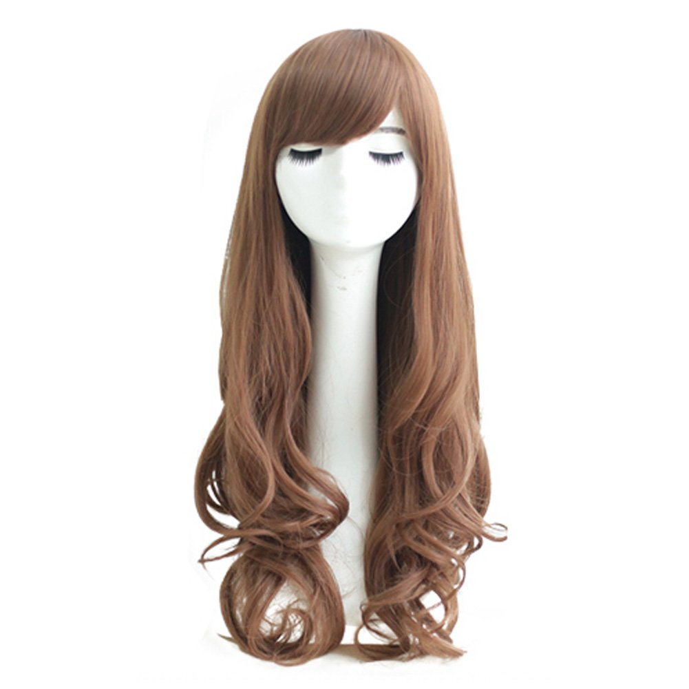 Curly Wavy Glamour Linen Long Hair Wig Fashion Bob: Wig Cap: Wig Comb
