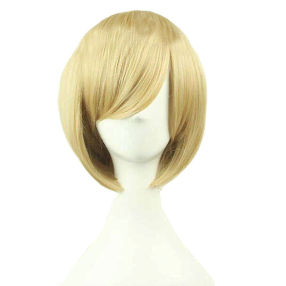 Get Masque Ball Party Accessories Cosplay Clown Hairpieces: Wigs Gold-3